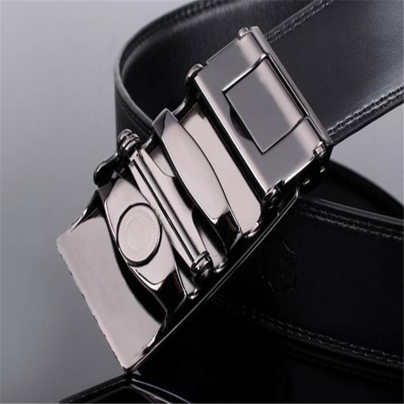 Belt Buckle Metal Men Leather Automatic Buckle Belts Fashion Waist Strap Belt Waistband Automatic Belts Men Leather 40AG3003