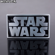 WesBuck Brand Retail New styles Star Wars belt buckle Rectangle Silver For 4cm/1.57in Wide metal cowboy Belt head Fit 4cm