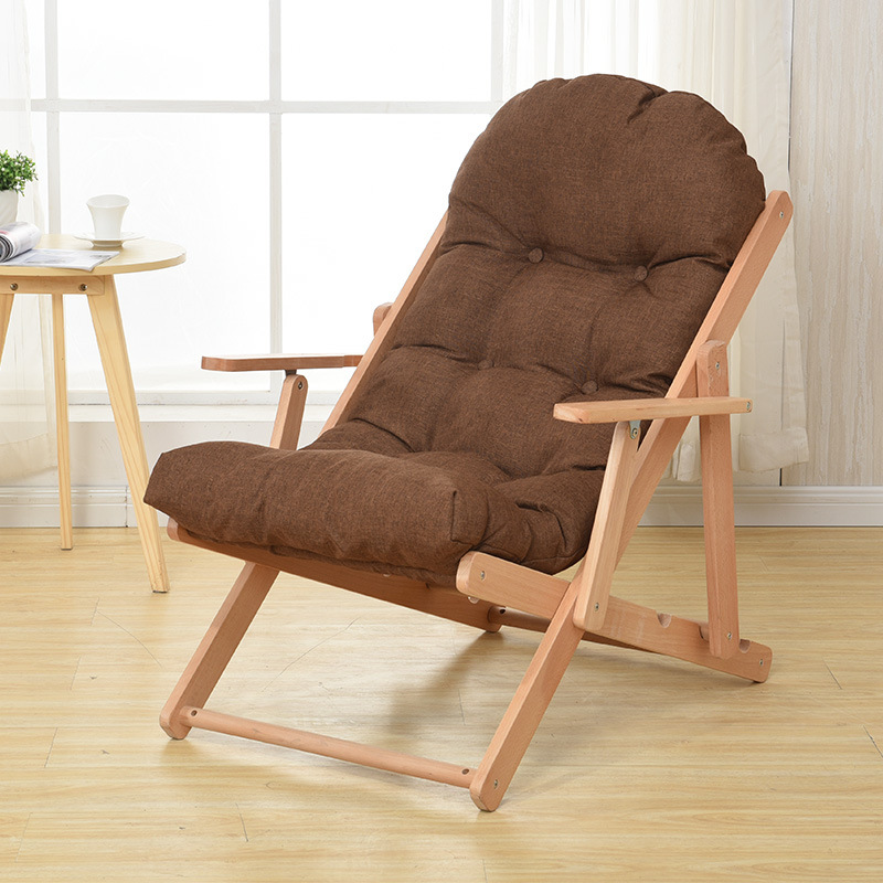 Fantastic Us 149 0 Leisure Rocking Chair Solid Wood Folding Lounge Chair Simple Lazy Chair Lazy Sofa Recliner Living Room Bedroom Balcony Furniture In Living Customarchery Wood Chair Design Ideas Customarcherynet