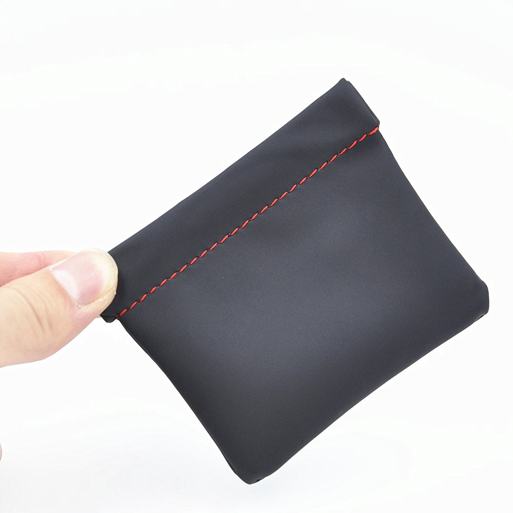 Wooeasy Earphone Accessories Senfer Case Bag PU Leather Earphone Case Portable Bag For Headphone Accessories