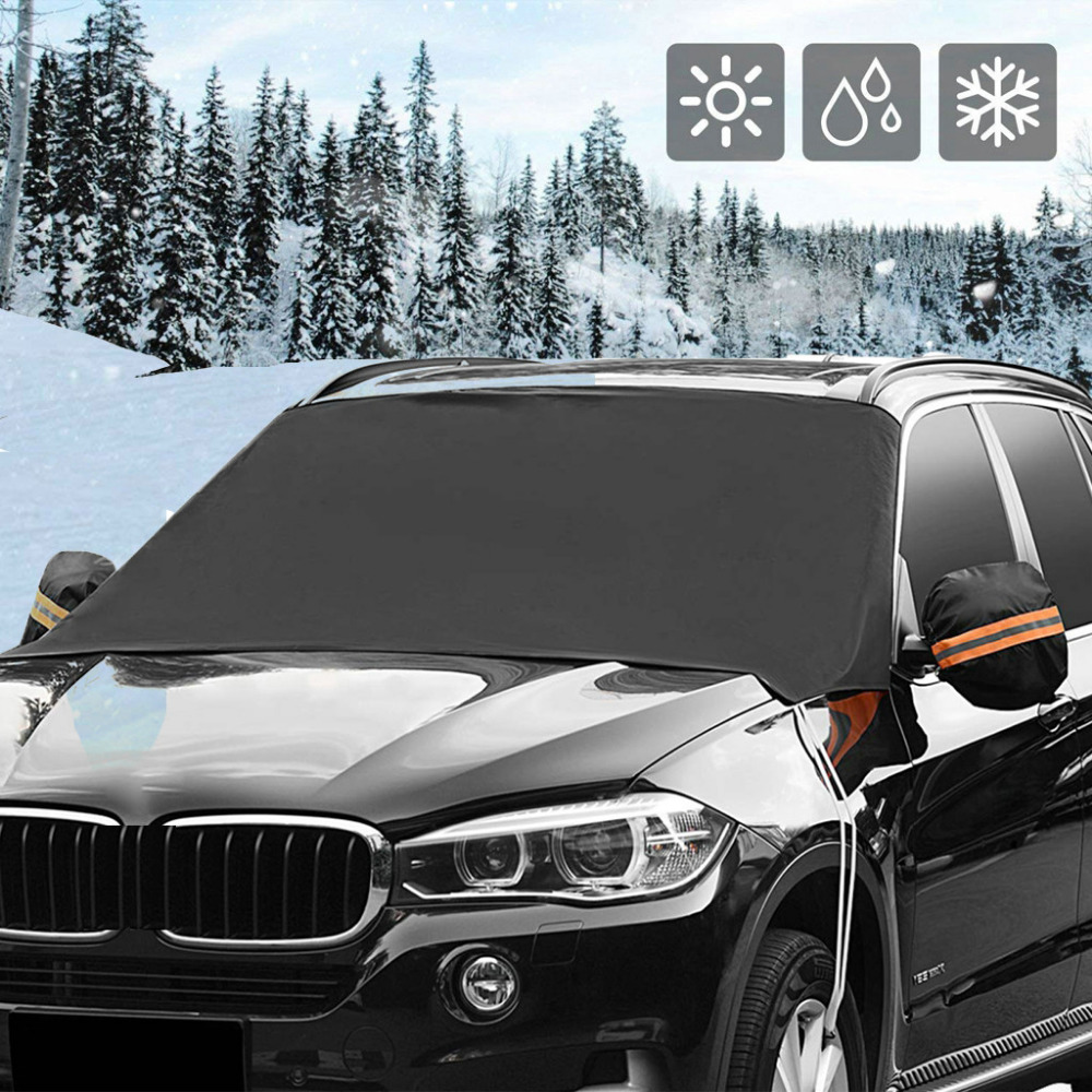 Car exterior protection Snow blocked Car Covers Snow Ice Protector Visor Sun Shade Fornt Rear Windshield Cover Block Shields
