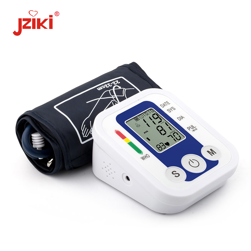 JZIKI Digital Upper Arm Blood Pressure Monitors tonometer Portable health care bp Blood Pressure Monitor meters sphygmomanometer мужские часы bering ber 12138 166