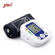JZIKI Digital Upper Arm Blood Pressure Monitors tonometer Portable health care bp Blood Pressure Monitor meters sphygmomanometer diagnostec arm in cuffless blood pressure monitor with portable wireless display