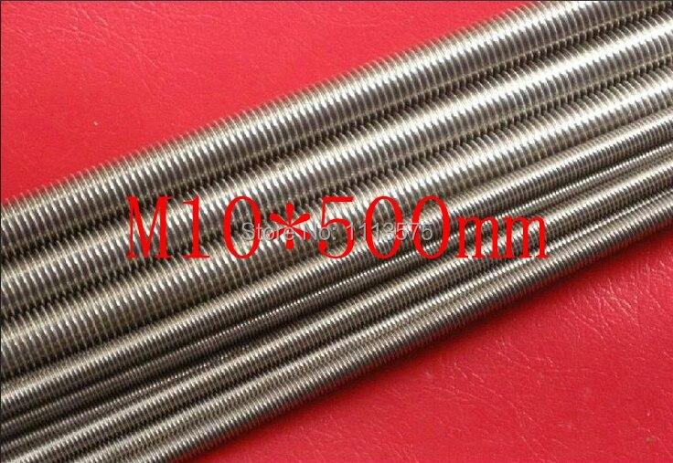 M10*500mm 304,321,316 stainless steel thread bar,threaded rod nuts and bolts,threaded bar bolts and nuts 20pcs lot m6 70 m6 stainless steel threaded bar threaded rod m6 70 full thread stud