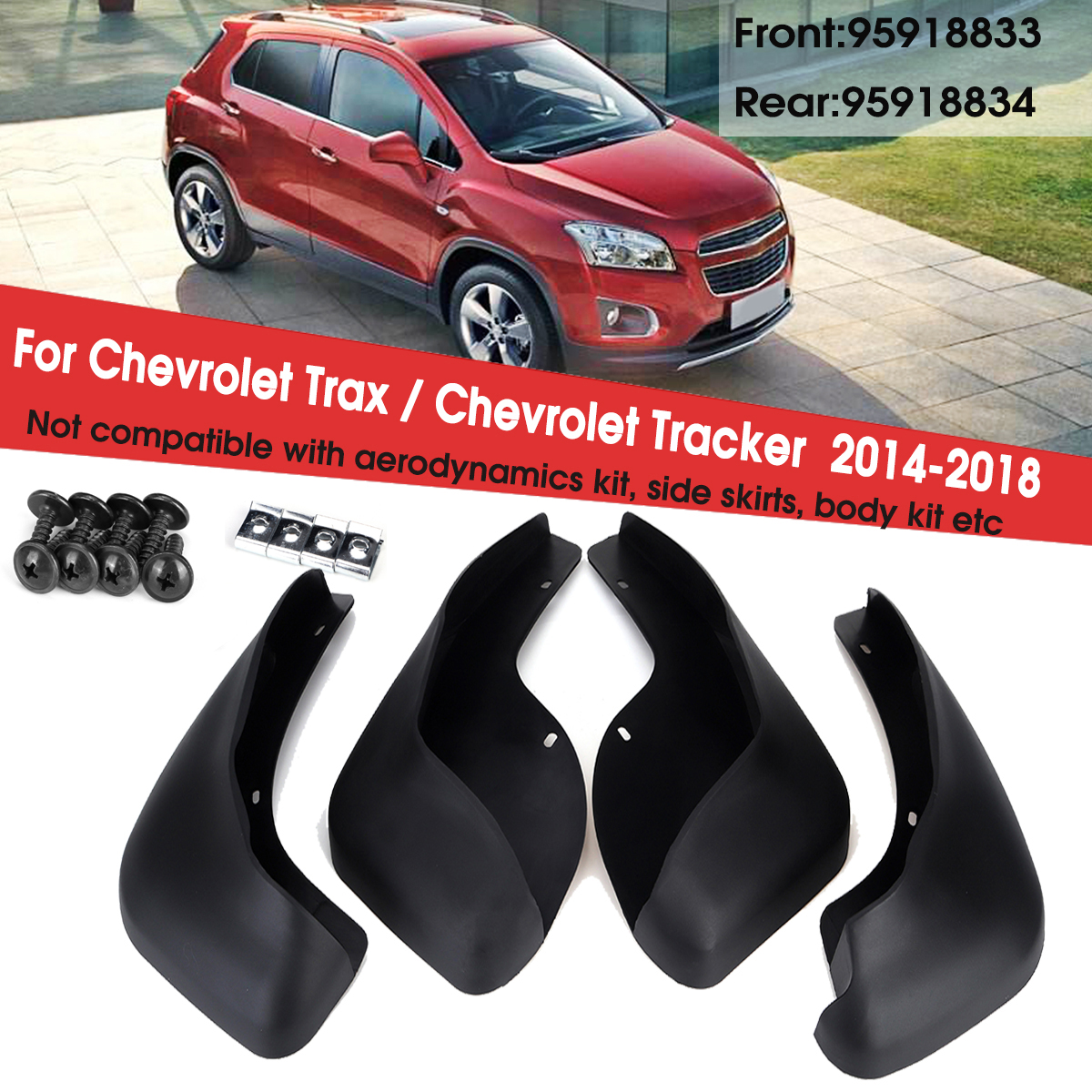 4pcs For Chevrolet Trax 2014 2015 2016 2017 2018 Car Front