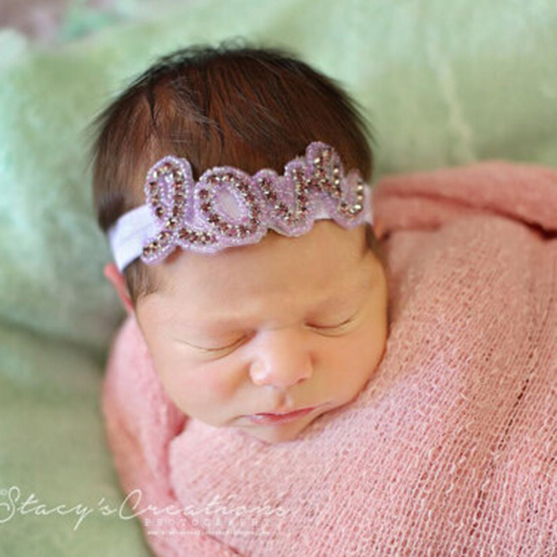 New 2016 Newborn Baby Girls Rhinestone Headbands Children Hair Accessories Baby Crystal Headband Headwear Baby Photo Prop 1 PC