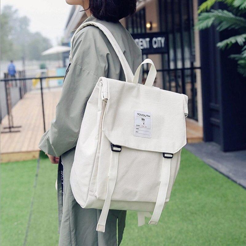 2019 New Brand Fashion Backpack Women Canvas Backpacks For Teenage Girls Large Capacity Female Shoulder Bag Student Schoolbag