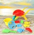 12 PCS Crianças de Areia Conjunto de Brinquedos de praia 13 PCs ferramenta Balde de Praia Bebê brincar com areia de Dragagem brinquedos da água