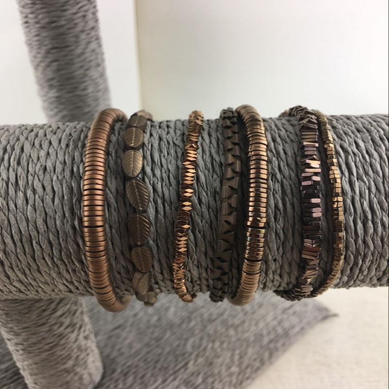 Dongmu jewllery 2017 ручной работы матовый черный камень Браслеты с подвесками звено цепи Стиль Для мужчин и Для женщин подарок более коллокации кла... ...