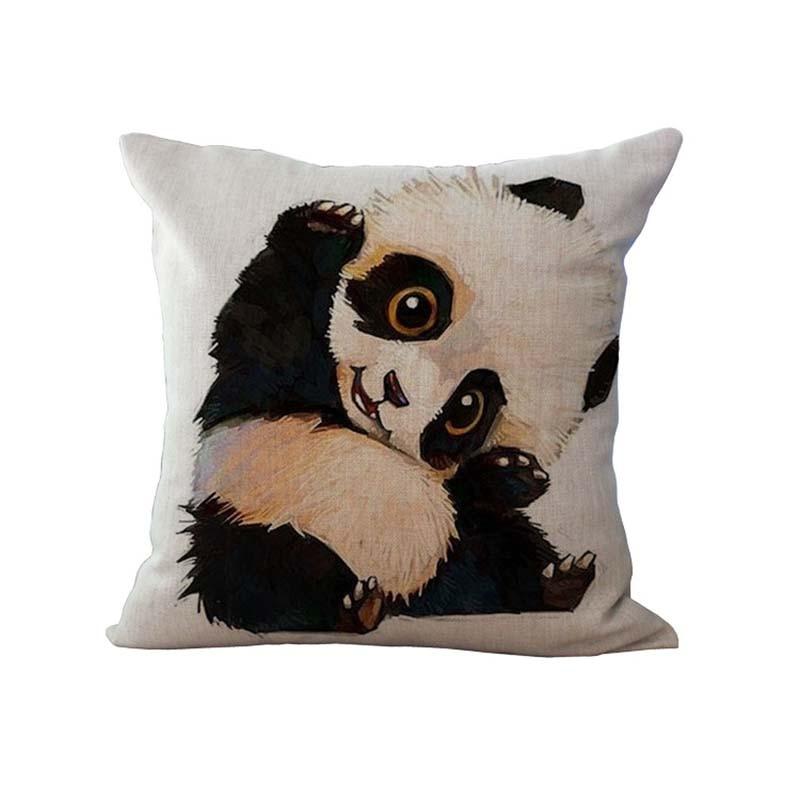 1 pc little cute panda design pillowcase panda pillow case 45x45cm square pandas pillow cover for home a1005