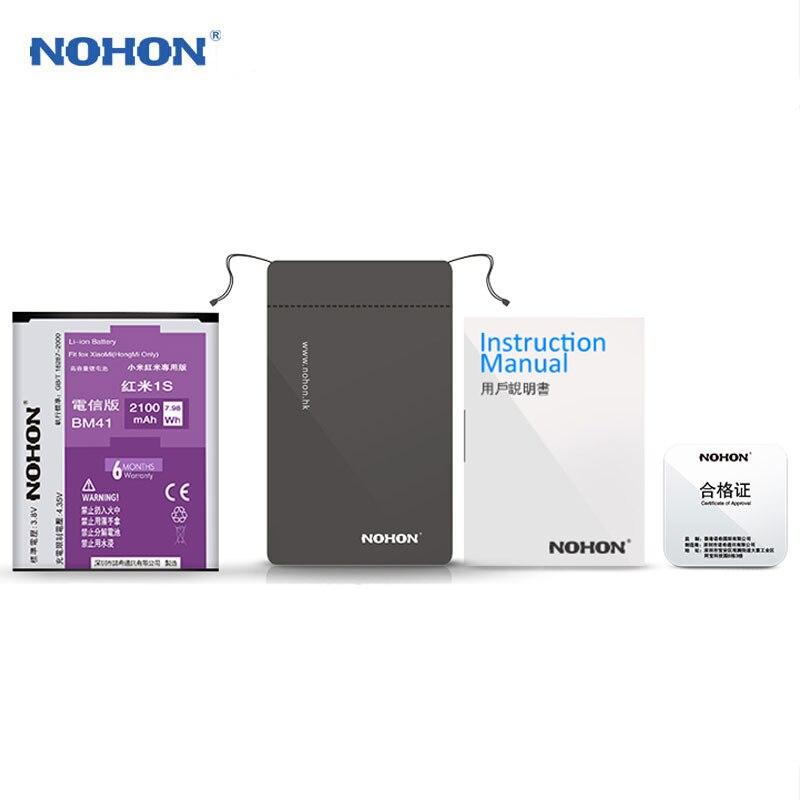 NOHON Batterie BM41 Pour Xiaomi Mi2A 2A Redmi 1 s Haute Capacité 2100 mah Mobile Téléphone Remplacement Batteries Outils Gratuits pour Redmi 1 s