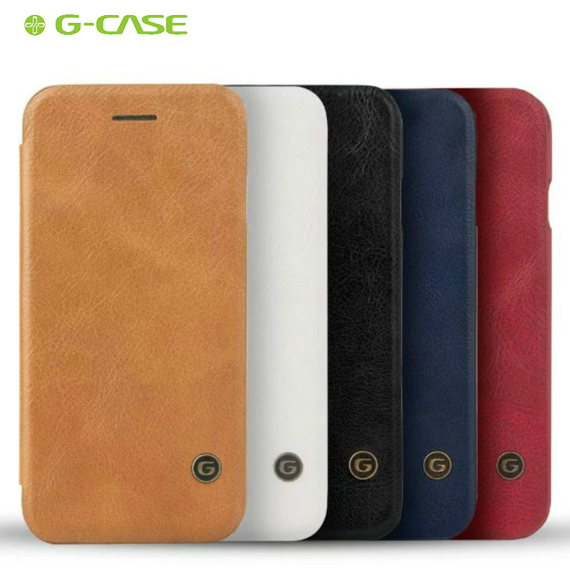 GCASE Original PU Leather Card Slot Protection Shell Case for iPhone 7 Nana Sim Card Slot Fashion Flip Cover for Apple iPhone7