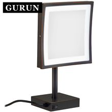 Gurun LED Make up Mirror-LED light mirror 3X Magnifying Cosmetic Adjustable Countertop Makeup Mirror Free shipping 2205DORB