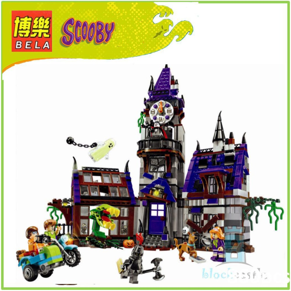 BELA 10432 Compatible Scooby Doo Figures Mystery Mansion 75904 Building Bricks Educational Toys For Children 10432 scooby doo mysterious ghost house mode building blocks educational toys 75904 for children christmas gift legoingse toys