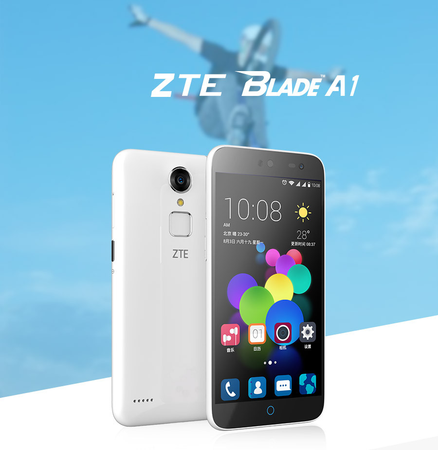 ZTE Blade A1 C880A Android 5.1 MTK6735 Quad Core Cellphone 2G RAM 16GROM Smartphone 5.0 1280x720 Mobile Phone Fingerprint
