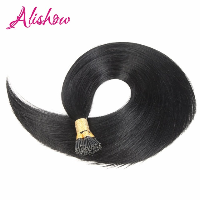 Alishow 22inch 1g S Pre Bonded I Tip Hair Extension 100 Human Machine