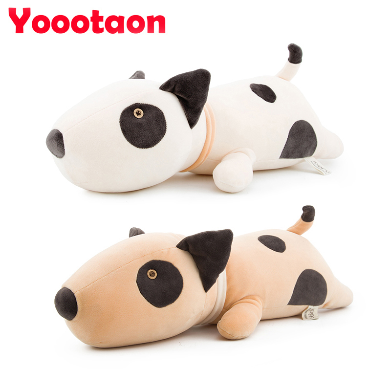 53cm Bull Terrier dog plush baby toys kawaii soft sleeping pillow stuffed dolls for Newborn kids children gifts Seat Cushion fancytrader soft anime radish plush toys giant stuffed emulational carrot sleeping pillow cushion for kids and adults gifts