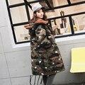 Materna las mujeres embarazadas de maternidad de invierno nueva de algodón de camuflaje chaqueta de gran tamaño chaqueta de moda chaqueta de algodón
