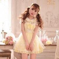Princess sweet lolita dress Candy rain Summer Japanese style lace embroidery bow chiffon princess dress C15AB5758