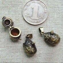 3 шт. 11X20 мм винтажные латунные бронзовые медальоны, винтажные молитвенные коробки