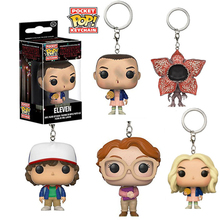 Funko Pop Pocket Stranger Things Keychain Eleven Dustin Barb Demogorgon Action Figures Toys