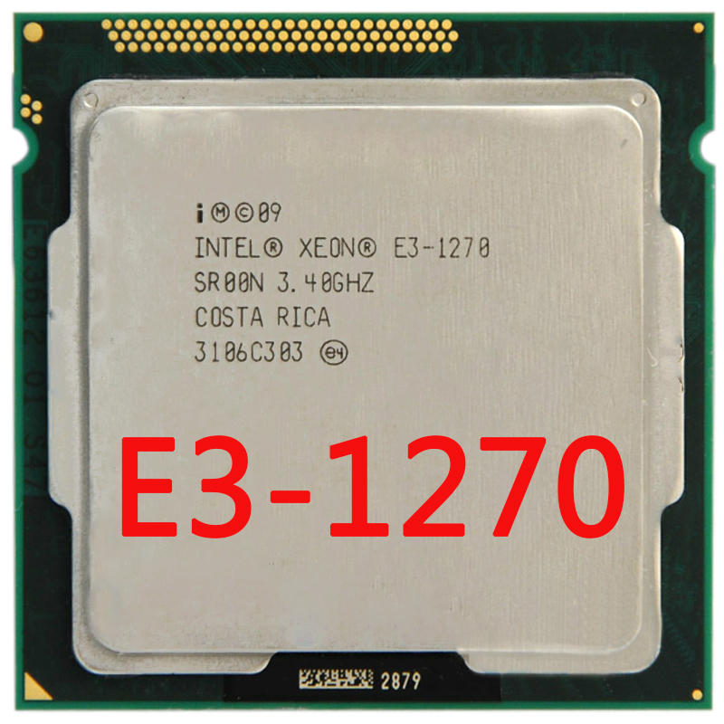 Intel Xeon Quad-Core Processor E3-1270 E3 1270 3.4GHz 8MB LGA 1155 CPU LGA