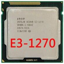 Intel Xeon Quad Core font b Processor b font E3 1270 E3 1270 3 4GHz 8MB