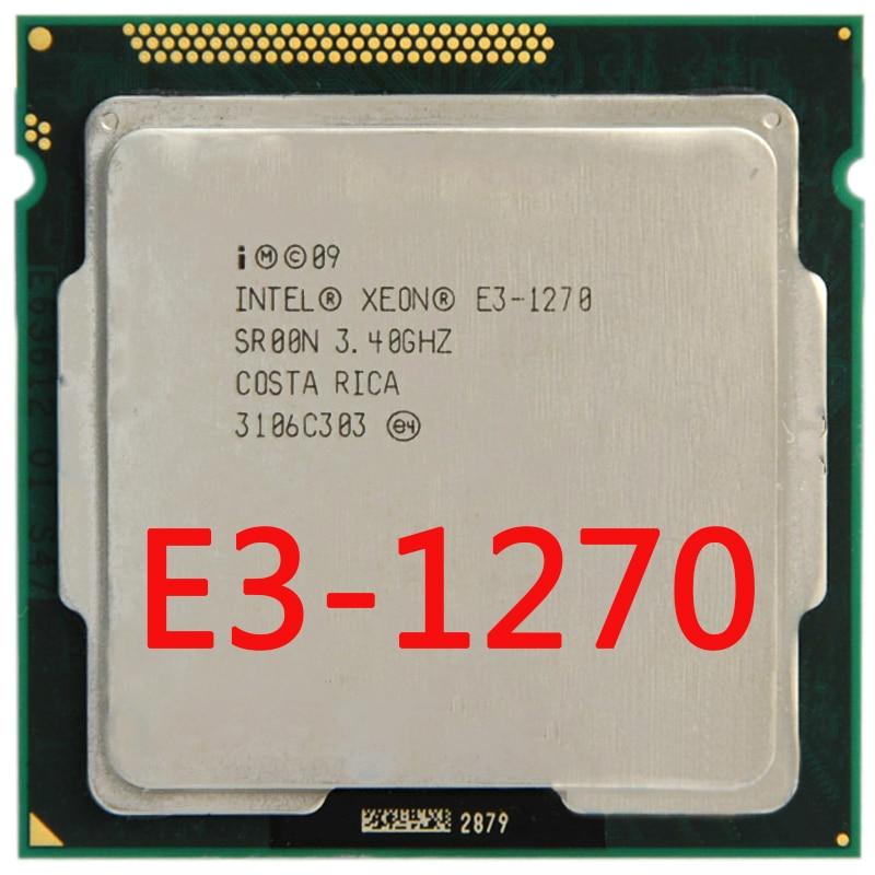 Processeur Intel Xeon Quad-Core E3-1270 E3 1270 3.4 1155 GHz 8 mo LGA CPU LGA