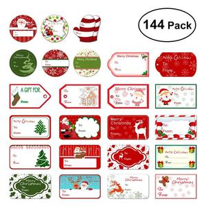 144 Christmas Stickers Self Adhesive Gift Tag Stickers 24 Assorted Santa Snowmen Christmas Presents Labels Xmas Navidad Gift