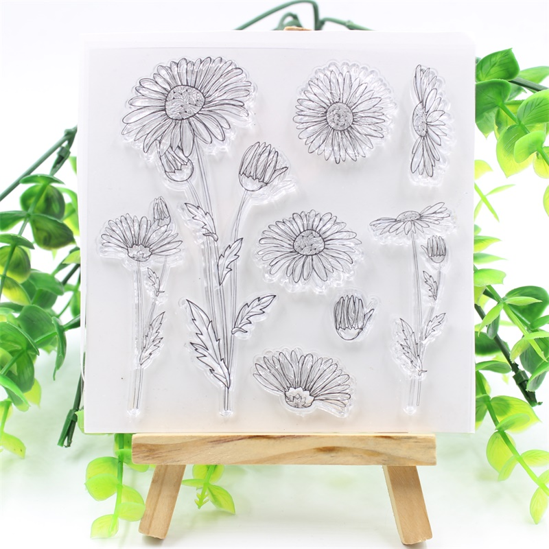 YPP CRAFT Flowers Transparent Clear Silicone Stamp Or Cutting Dies for DIY Scrapbooking/Card Making/Kids Fun Decoration Supplies ypp craft post card transparent clear