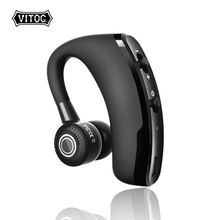 V9 Bluetooth Earphones Wireless Headphone Earbuds Handsfree Blutooth Headset with Mic for Driving iPhone xiaomi Samsung Earphone daono v9 handsfree business bluetooth headphone with mic voice control wireless bluetooth headset for drive noise cancelling