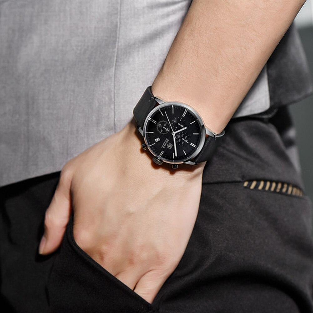 BENYAR Moda Chronograph Esporte Mens Relógios Top Marca de Luxo Relógio de Quartzo Impermeável Relógio Masculino horas relogio masculino - 2