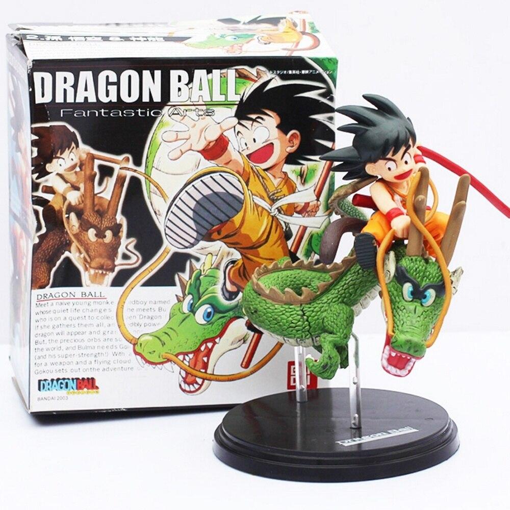 Dragon Ball Z Son Goku & Dragon Riding Shenron PVC Action Figure Collection Model Toys Dolls 15cm anime dragon ball z goku games museum collection shenron son goku action figure model toy shenlong pvc action figures 7 18cm