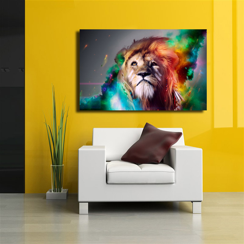 Lion King Abstract paintings on canvas Wall Pictures For Living Room ...