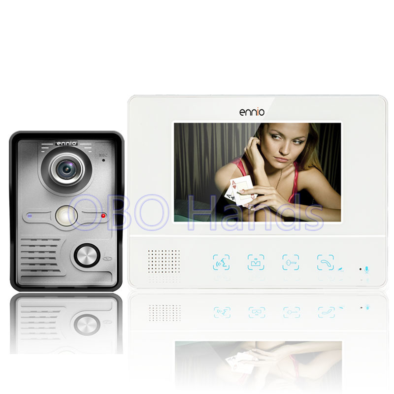 Free shipping 7'' wired color video door phone Intercom system video doorbell 1 CMOS Night Version Camera+1 monitor 811MKW11 brand new wired 7 inch color video door phone intercom doorbell system 1 monitor 1 waterproof outdoor camera in stock free ship