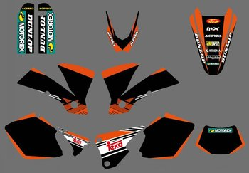 new style  (0416 ) TEAM GRAPHICS & BACKGROUNDS DECALS FOR  EXC 125/200/250/300/400/450/525 2003