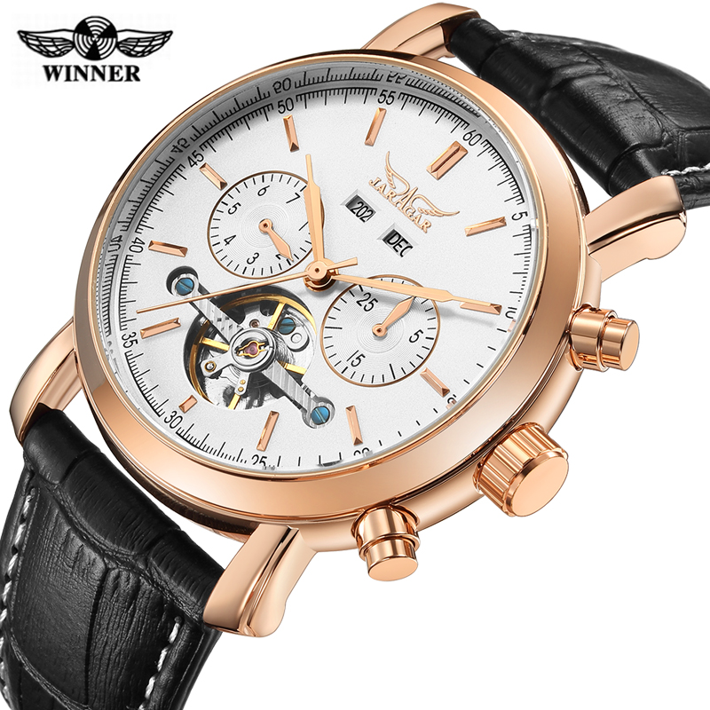 WINNER Top Brand Luxury Automatic Fashion Mechanical Watch Fashion Skeleton Clock Men Sport Watch Automatic Mechanical Watch