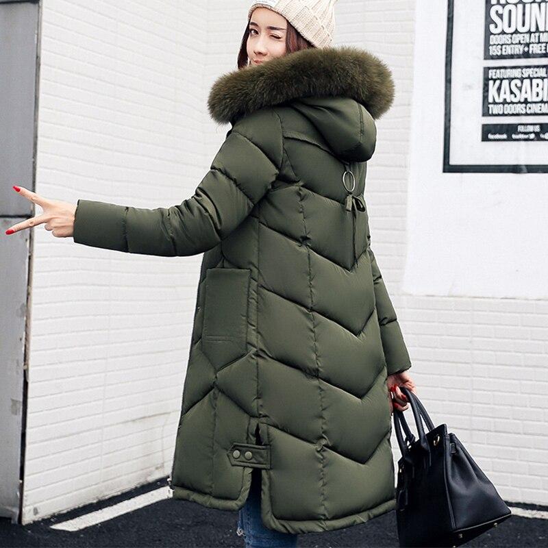 2018 winter jacket women hooded coat fur collar thick warm long jacket female plus size 3XL outerwear parka chaqueta feminino 2017 fur collar women winter hooded coat female outerwear parka ladies warm long jacket slim jaqueta feminina plus size 3xl