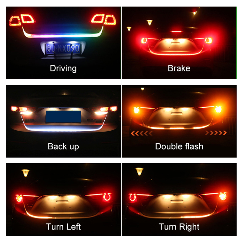 OKEEN Car Styling Led Trunk Light Strip Amber Turn Signal