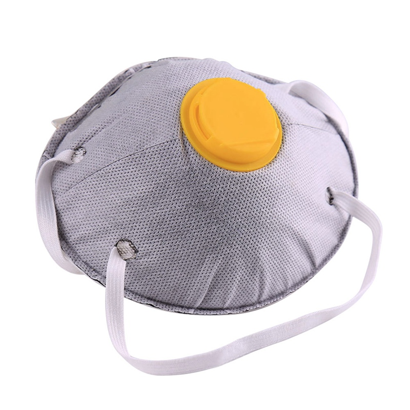 Non-woven Activated Carbon Collapsible Dust Protective Mask Charcoal Particulate Filter Respirator Breathable Face Mask Workplac