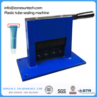Aluminum Tube Sealing Machine Teeth Paste Tube Sealer Aluminum Stamping Sealer With Expiration Codes Manual Sealer