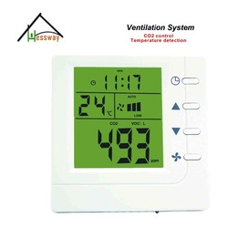 Temperature detection House pet, office, conference room air quality monitor co2 smrat controller for Ventilation System