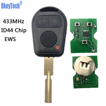 купить OkeyTech EWS System Remote Key FOB 433MHz ASK With ID44 Chip HU58 HU92 Blade 3 Buttons for BMW 3 5 7 X5 X3 Z4 E38 E39 E46 онлайн