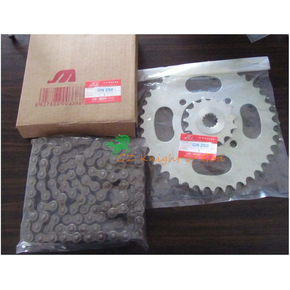 Motorcycle Camshaft Timing Chain Sprocket Kit for Suzuki GN250 GZ250 DR250 SP250 GN GZ DR SP 250 Camshaft Chain CB650 112 LINKS rubing matching motorcycle accessories gn250 did9 timing chain in pieces