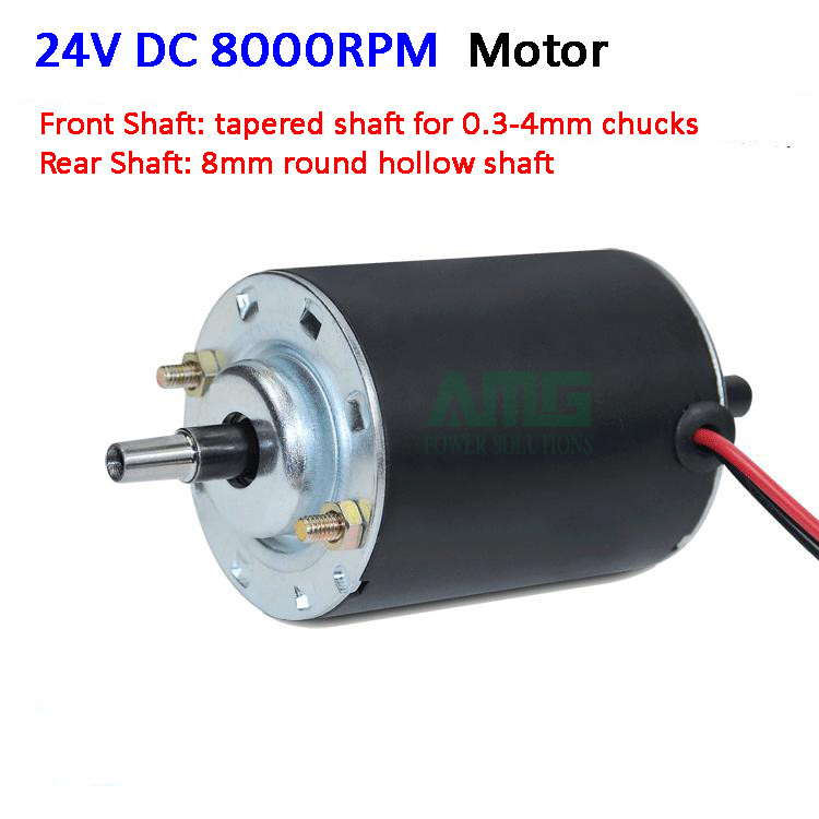 Micro 12v 24v 4000rpm 8000rpm dc motor double shafts with for 4000 rpm dc motor