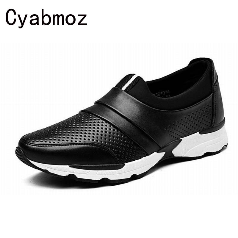 Fashion Style Split Leather Men Flats Casual Shoes Slip-On Loafers Thick Bottom Breathable  Driving Travel Shoe for Men fashion nature leather men casual shoes light breathable flats shoes slip on walking driving loafers zapatos hombre