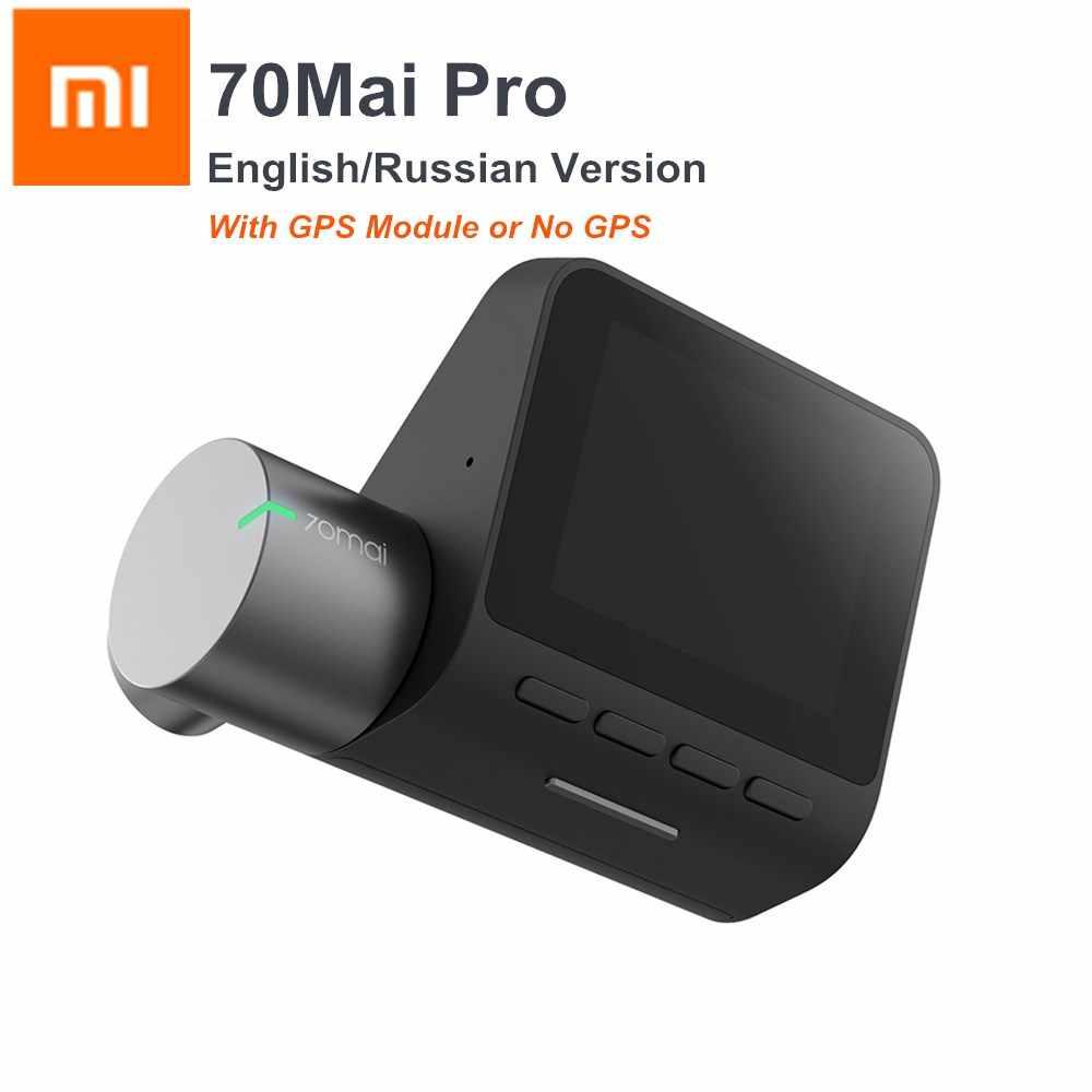 Xiaomi 70mai برو داش كاميرا 1944P GPS أداس جهاز تسجيل فيديو رقمي للسيارات داش كاميرا 140 درجة فوف ليلة النسخة التحكم الصوتي الإنجليزية /الروسية النسخة