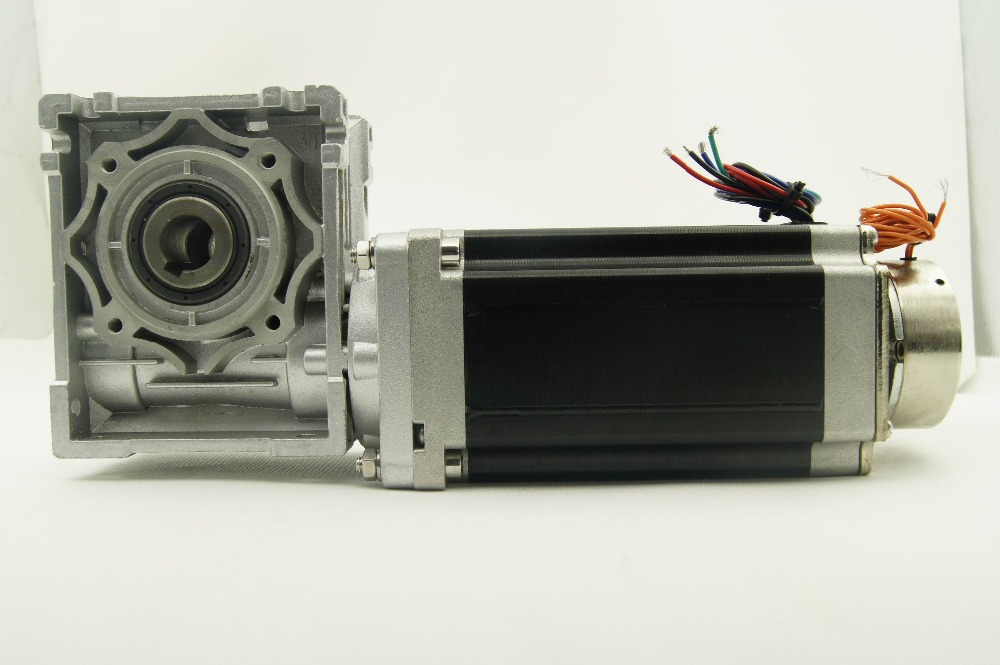 4-lead high Torque NEMA 34 Worm Gear Ratio 1:5 Worm Gear Stepper Motor with brake and output shaft 12N.m Motor Length 156mm 4 lead nema 34 worm geared stepper motor with brake and output shaft 8 5n m 1215oz in motor length 118mm worm gear ratio 1 5