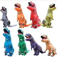Halloween Outdoor air filled adult size inflatable dinosaurs clothing rider tyrannosaurus rex club party event facetious toy