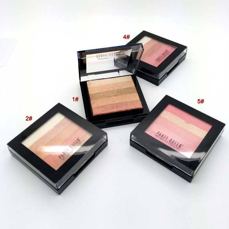 Bronzer Powder Blush and Highlighter Makeup Party Queen Pro Eye shadow Palette set Tanning Powder #01 28
